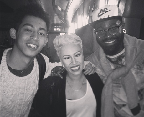 Rizzle Kicks and Emeli Sande at her concert