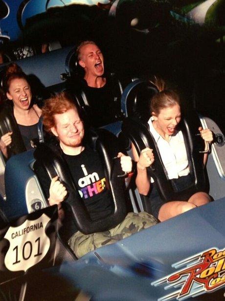 Ed Sheeran anf Taylor Swift rollercoaster