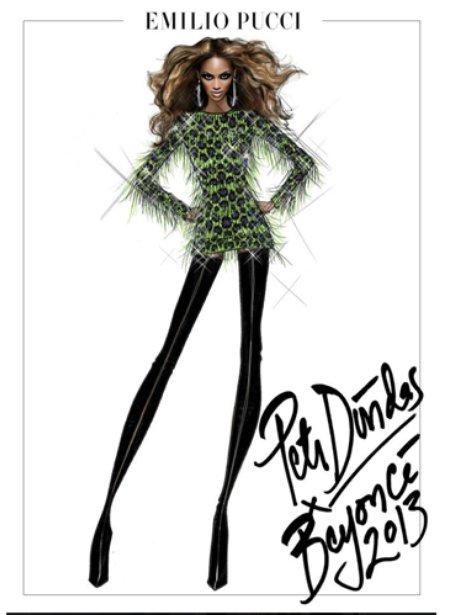 Beyonce's tour sketches