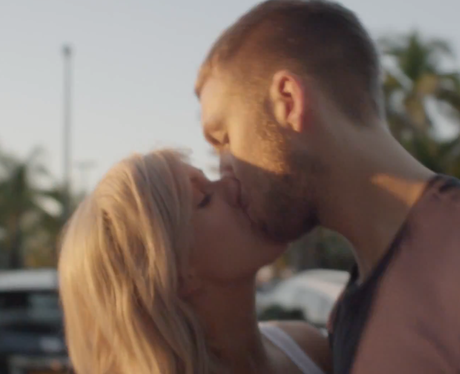 Calvin Harris and Ellie Goulding in the 'I Need Your Love' video