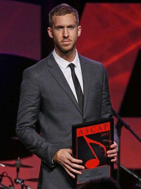 Calvin Harris receives an award