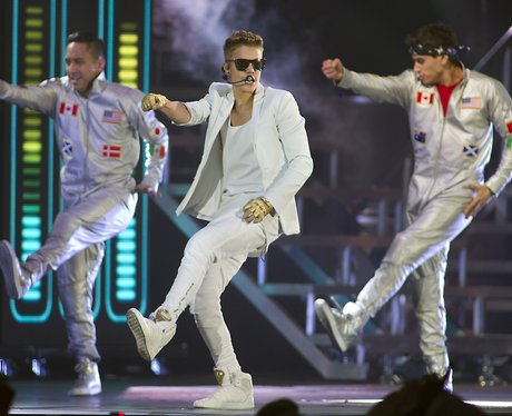 Justin Bieber performs on his Believe tour