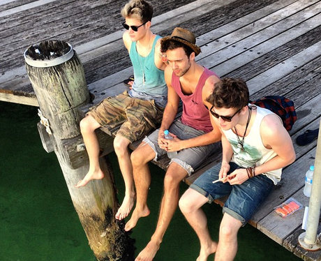 Lawson hanging out in Sydney