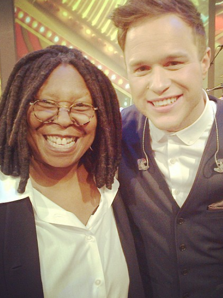 Olly Murs And Whoopi Goldberg meet for the first time
