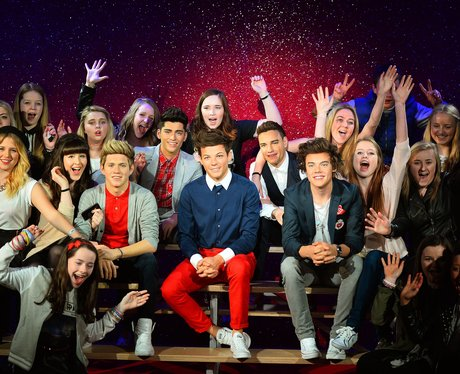 One Direction waxworks with fans