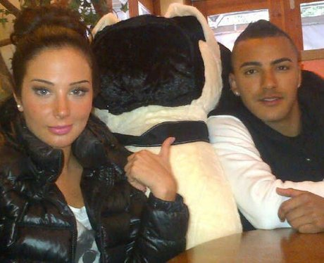 Tulisa and Dannny Simpson at Alton Towers