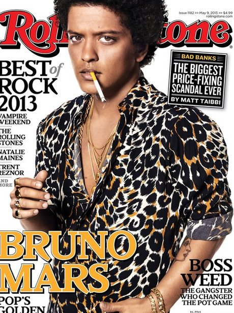 Bruno Mars Covers The New Issue Of Rolling Stone Magazine