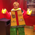 Image 1: Ed Sheeran in lego fancy dress