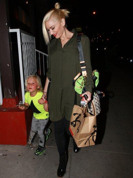 Gwen Stefani with her son