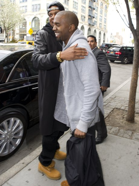 Jay Z and Kanye West hug
