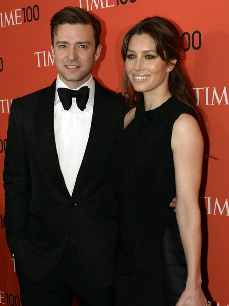 Justin Timberlake and Jessica Biel at the Time 100 Gala