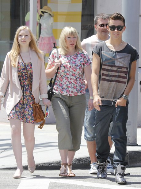 Nathan Sykes with his family in LA