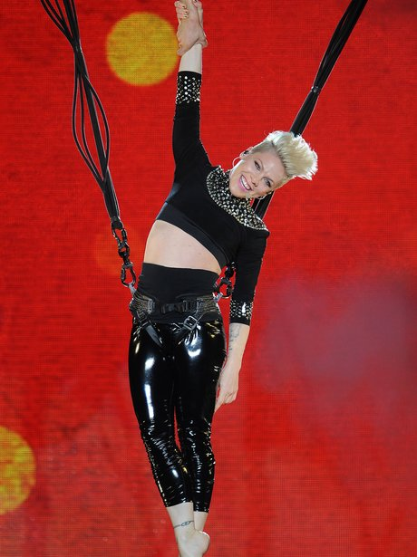 Pink performs on her UK tour