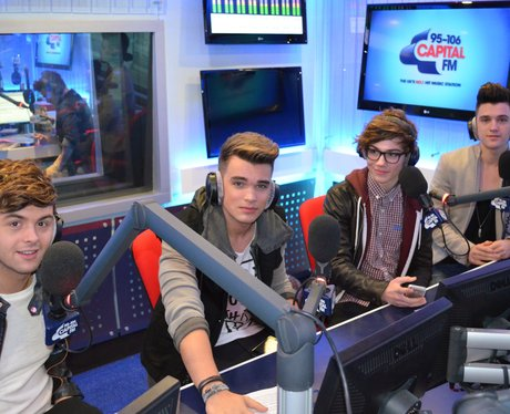 Union J in the Capital FM studios