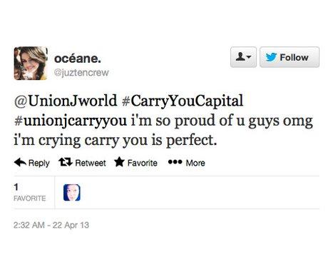 Union J fan reaction on twitter