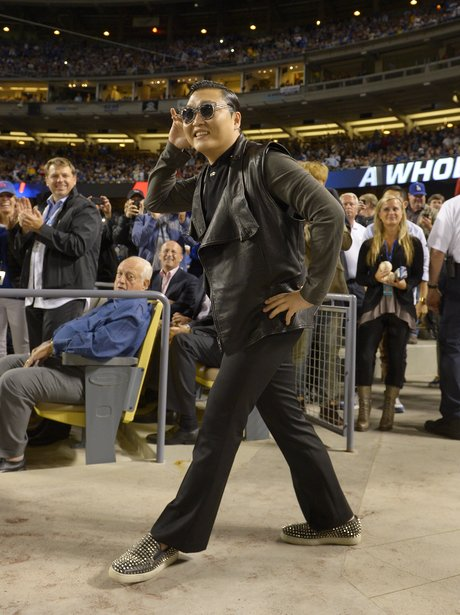 PSY At The Dodgers Match