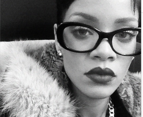 Rihanna wearing glasses