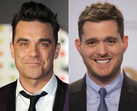 Robbie Williams and Michael Buble