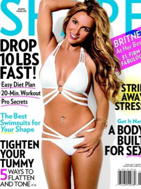 Britney Spears covers Shape magazine