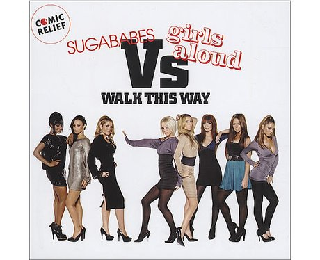 Girls Aloud and Sugababes' 'Walk This Way' single cover