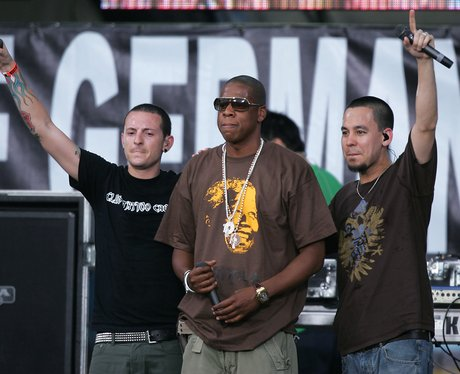 Jay Z and Linkin Park on stage together