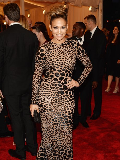 Jennifer Lopez at the Met Ball in print dress