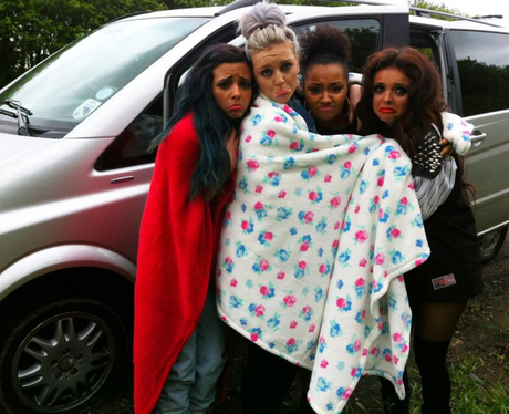 Little Mix stranded on the motorway