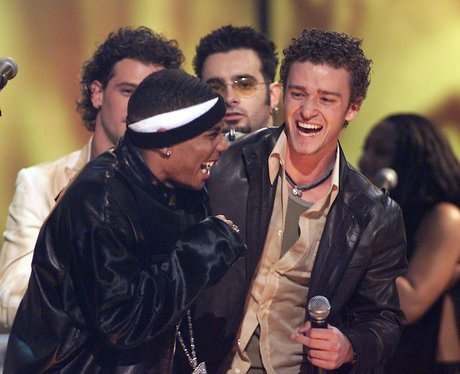 N 'Sync & Nelly on stage at the Billboard Music Awards 2001