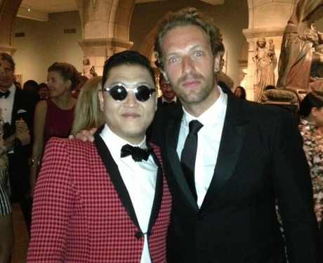 PSY and Chris Martin at the MET Gala Ball 2013