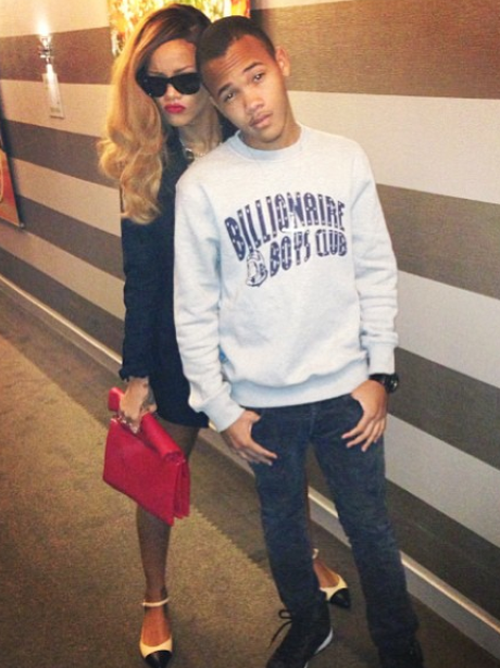 Rihanna spends the day with her younger brother