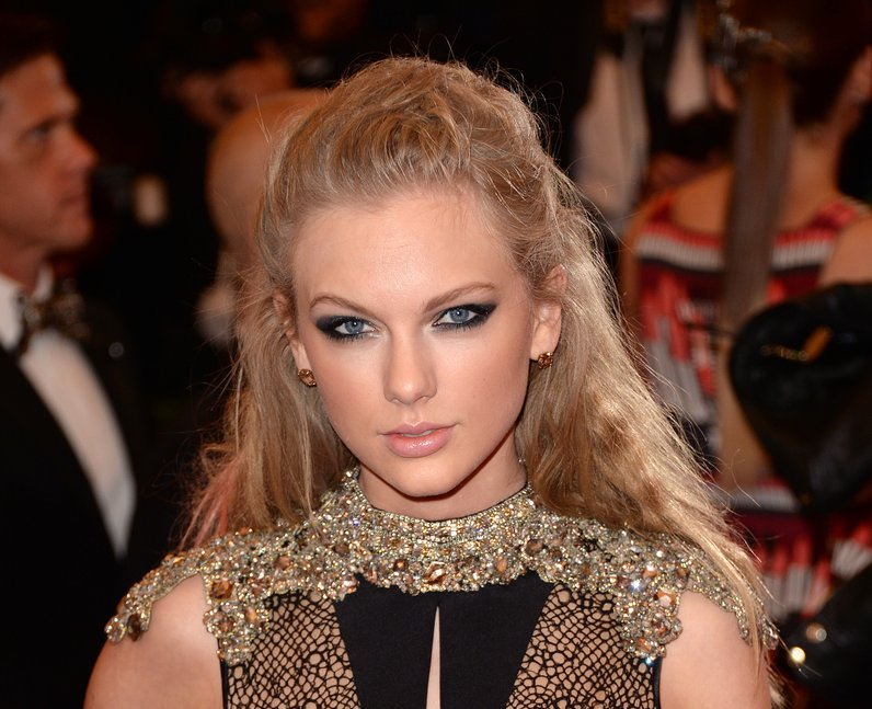 Taylor Swift on the red carpet in couture dress