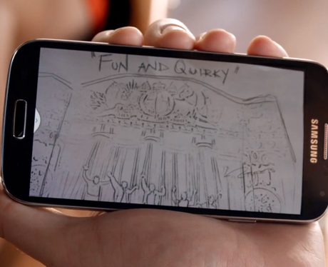 Samsung phone in The WAnted's 'Walks lIke Rihanna video