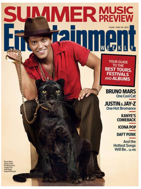 Bruno Mars Entertainment Weekly May 2013