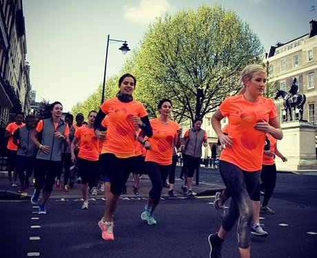 Ellie Goulding on a charity run