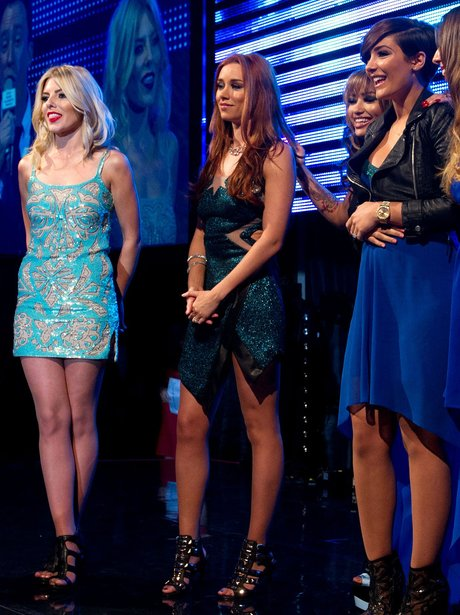 Mollie King, Una Healy and Frankie Sandford on stage at the Sony Music Awards