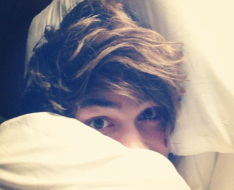 George Shelly in bed