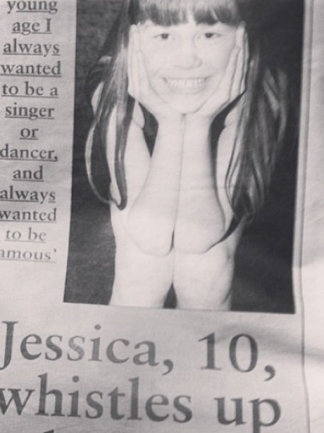 Jessie J in a newspaper before she was famous