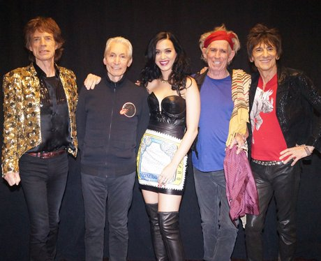 Katy Perry backstage with the Rolling Stones