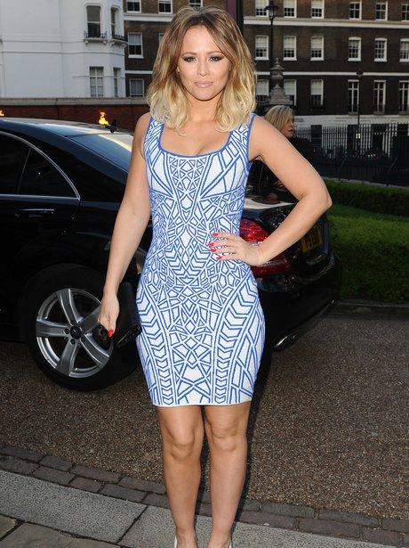 Kimberley Walsh wearing a tight dress