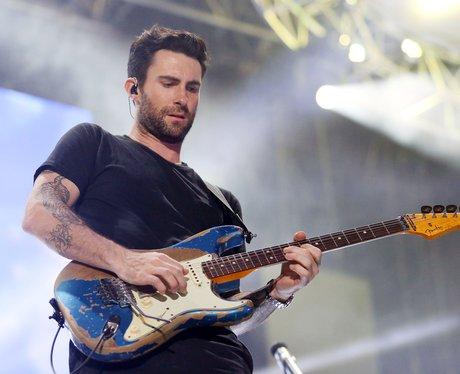Maroon 5's Adam Levine playing guitar at Wango Tango
