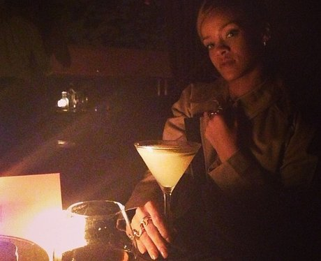 Rihanna on a night out with her friends