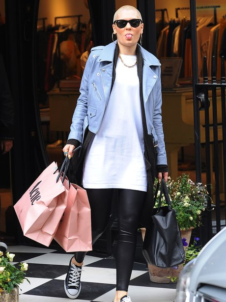 Jessie J carry Acne shopping bags