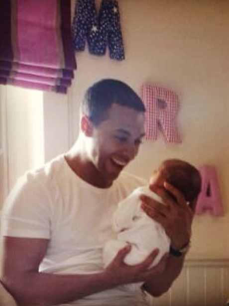 Marvin Humes With Baby