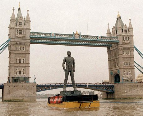 Michael Jackson History Statue on river Thames in London