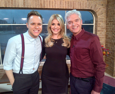 Olly Murs, Holly Willoughby and Phillip Schofield
