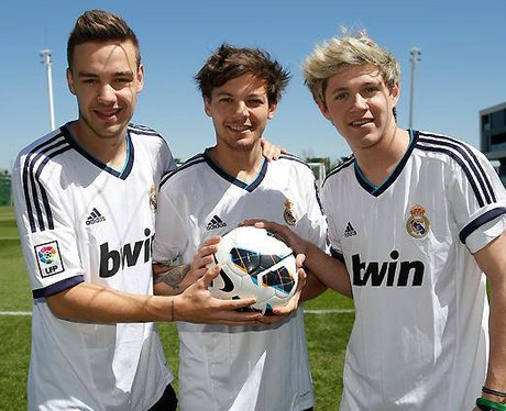 One Direction at Real Madrid football ground