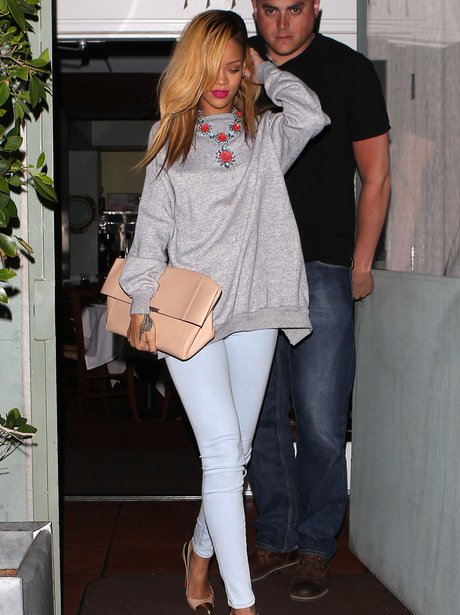Rihanna going out for dinner