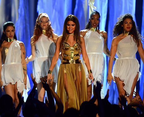 Selena Gomez on stage at the Billboard Music Awards 2013
