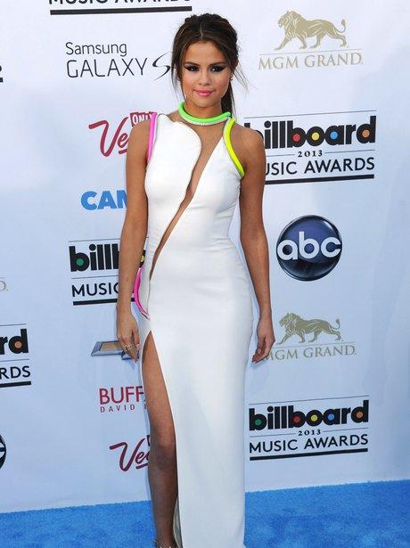 Selena Gomez in slit dress at the Billboard Music Awards 2013