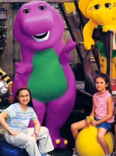 Selena Gomez on Barney and friends